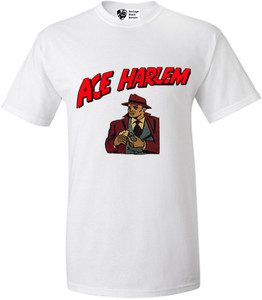 Vintage Black Heroes Men's T-Shirt - Ace Harlem - 16 - White