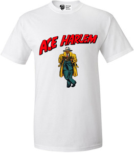 Vintage Black Heroes Men's T-Shirt - Ace Harlem - 17 - White