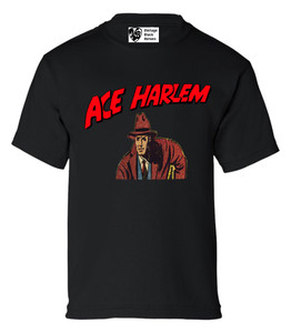 Vintage Black Heroes Boys T-Shirt - Ace Harlem - 4 - Black