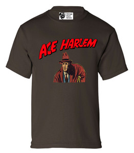 Vintage Black Heroes Boys T-Shirt - Ace Harlem - 4 - Brown