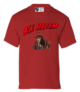 Vintage Black Heroes Boys T-Shirt - Ace Harlem - 4 - Red