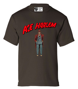 Vintage Black Heroes Boys T-Shirt - Ace Harlem - 6 - Brown