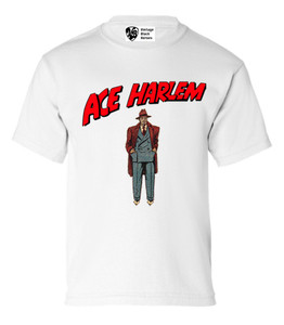 Vintage Black Heroes Boys T-Shirt - Ace Harlem - 6 - White