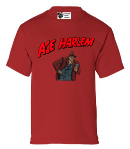 Vintage Black Heroes Boys T-Shirt - Ace Harlem - 10 - Red