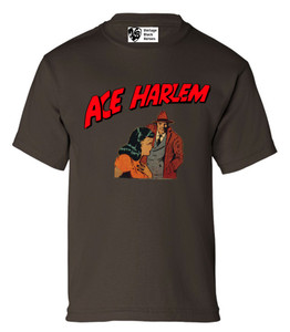 Vintage Black Heroes Boys T-Shirt - Ace Harlem - 15 - Brown