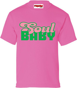 SuperBad Soulware Girls T-Shirt - Soul Baby - Pink - GP