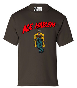 Vintage Black Heroes Boys T-Shirt - Ace Harlem - 17 - Brown