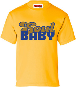 SuperBad Soulware Girls T-Shirt - Soul Baby - Gold - BLGD