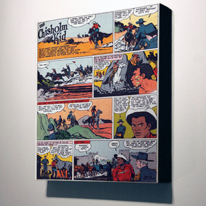 Vintage Black Heroes 14x12 Canvas - The Chisholm Kid - 3