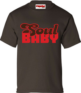 SuperBad Soulware Kids T-Shirt - Soul Baby - Brown - RBR