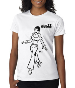 Fast Willie Jackson Women's T-Shirt - Cleo - 3B - White