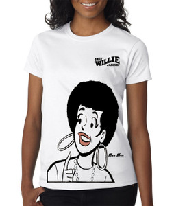 Fast Willie Jackson Women's T-Shirt - Dee Dee - 2C - White