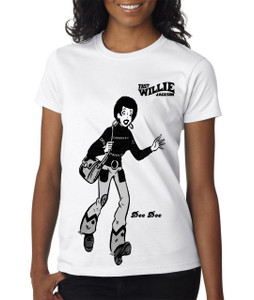 Fast Willie Jackson Women's T-Shirt - Dee Dee - 4B - White