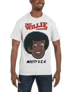 Fast Willie Jackson Men's T-Shirt - Fast Willie Jackson - 2A - White