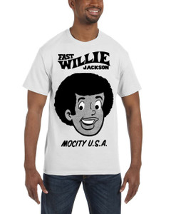 Fast Willie Jackson Men's T-Shirt - Fast Willie Jackson - 2B - White