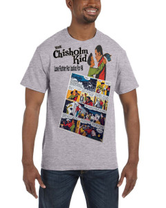 Vintage Black Heroes Men's T-Shirt - The Chisholm Kid - Comic 9 - Sport Grey
