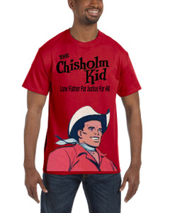 Vintage Black Heroes Men's T-Shirt - The Chisholm Kid - Color 1 - Red