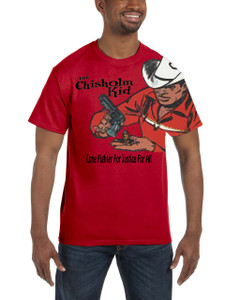 Vintage Black Heroes Men's T-Shirt - The Chisholm Kid - Color 5 - Red