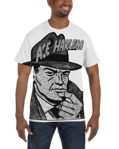 Vintage Black Heroes Men's T-Shirt - Ace Harlem - Hat1 - White