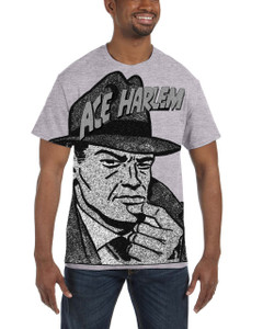 Vintage Black Heroes Men's T-Shirt - Ace Harlem - Hat1 - Light Grey