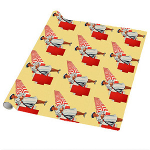 Afrotopia Wrapping Paper Sheets - Vintage Nurse - Package Of 5