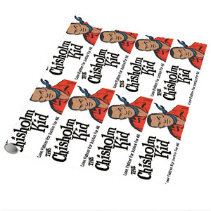 Vintage Black Heroes Wrapping Paper Sheets - The Chisholm Kid - 3 - Package Of 5