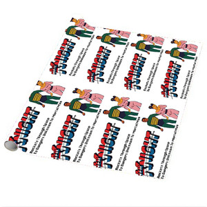 Vintage Black Heroes Wrapping Paper Sheets - Neil Knight - 5 - Package Of 5