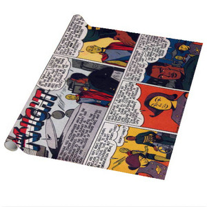 Vintage Black Heroes Wrapping Paper Sheets - Neil Knight - 14 - Package Of 5