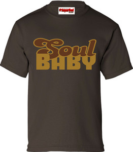SuperBad Soulware Boys T-Shirt - Soul Baby - Brown - GDBR