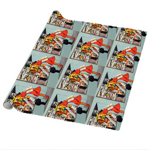 Afrotopia Wrapping Paper Sheets - Vintage Travel Agency - Package Of 5
