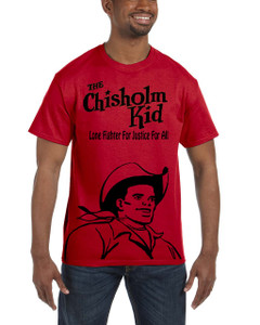 Vintage Black Heroes Men's T-Shirt - The Chisholm Kid - Black Cut Out 1 - Red