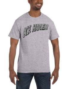 Vintage Black Heroes Men's T-Shirt - Ace Harlem - Logo - Light Grey