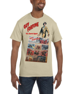 Vintage Black Heroes Men's T-Shirt - Guy Fortune - Comic 19 - Sand
