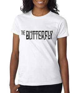 Vintage Black Heroines Women's T-Shirt - The Butterfly - Logo 2 - White