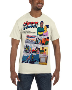 Vintage Black Heroes Men's T-Shirt - Neil Knight - Comic 7 - Natural