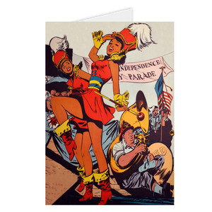 Afrotopia Greeting Cards - Vintage Marching Band
