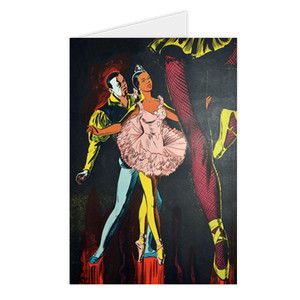Afrotopia Greeting Cards - Vintage Dancer