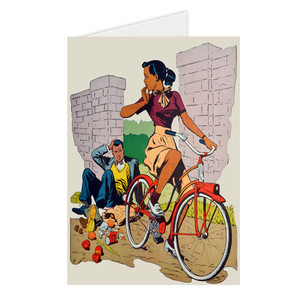 Afrotopia Greeting Cards - Vintage Bicycle