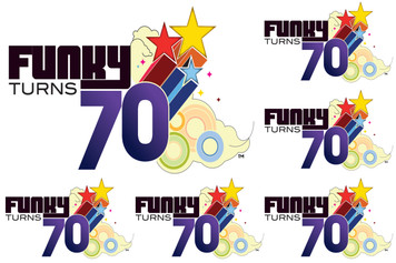 Funky Turns 70 Sticker Sheet