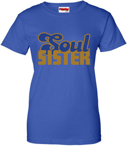 SuperBad Soulware Women's T-Shirt - Soul Sister - Royal Blue - GDBL