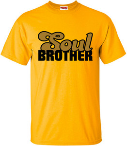 SuperBad Soulware Men's T-Shirt - Soul Brother - Gold - BGD