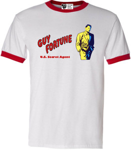 Vintage Black Heroes Men's T-Shirt - Guy Fortune - 6 - Red Ringer