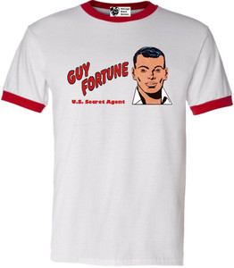 Vintage Black Heroes Men's T-Shirt - Guy Fortune - 10 - Red Ringer