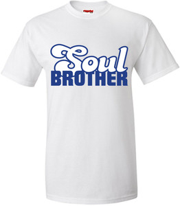 SuperBad Soulware Men's T-Shirt - Soul Brother - White - BLW