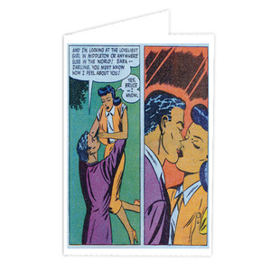 Afrotopia Greeting Cards - Vintage Romance 17 - Package Of 10