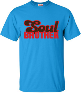 SuperBad Soulware Men's T-Shirt - Soul Brother - Sapphire Blue