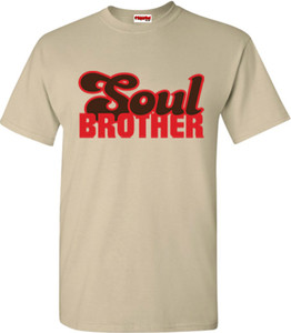 SuperBad Soulware Men's T-Shirt - Soul Brother - Sand