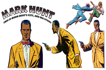 Vintage Black Heroes Sticker Sheet - Mark Hunt - 1