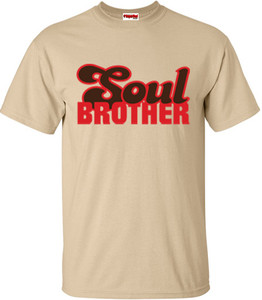 SuperBad Soulware Men's T-Shirt - Soul Brother - Tan