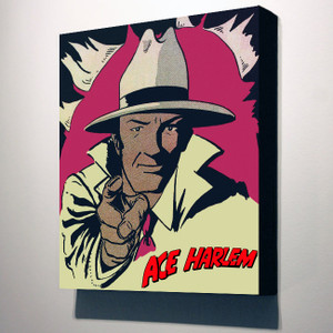 Vintage Black Heroes 32x24 Canvas - Ace Harlem - 2